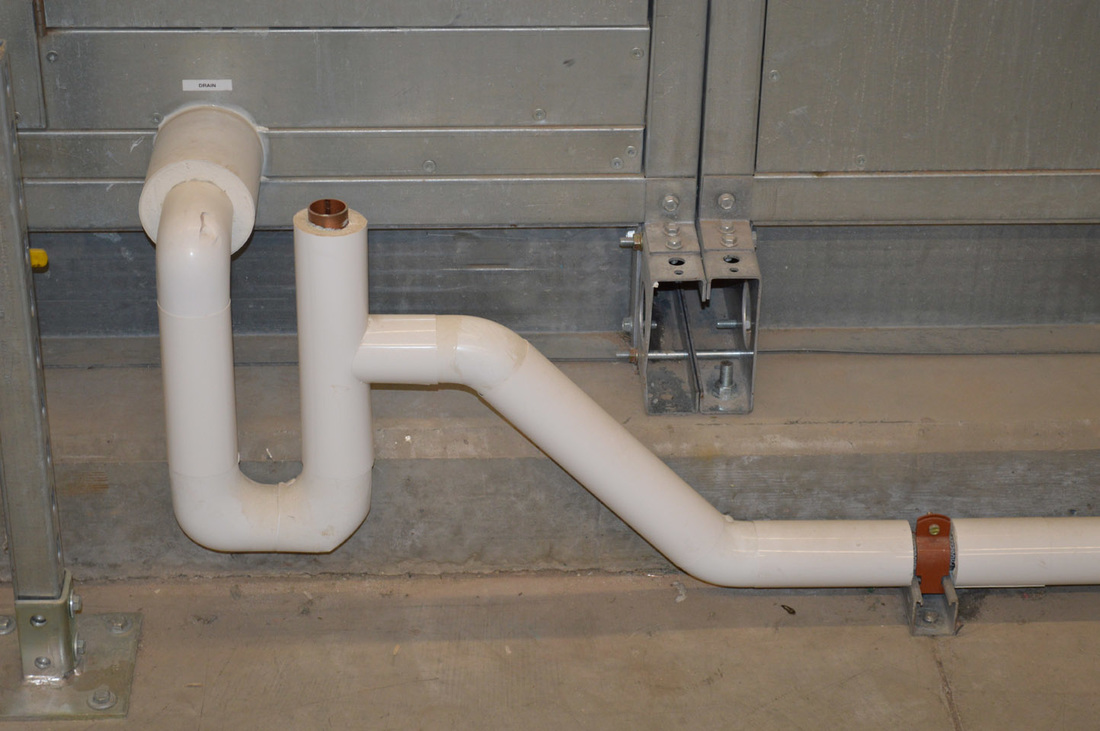 As the condensate collects it can drip on finished surfaces causing damage. Condensate drain piping is insulated to prevent this type of damage. & Condensate Drains
